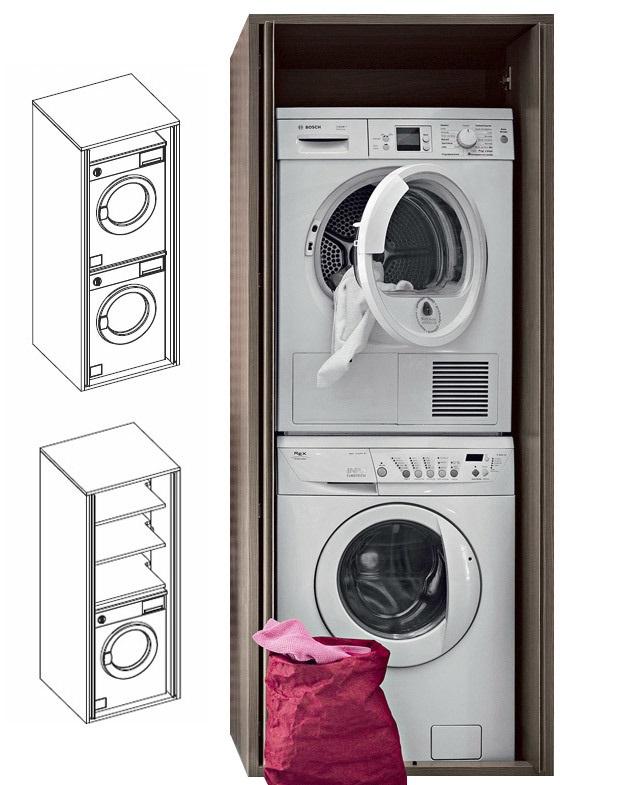 acqua e sapone - colonna porta lavatrici