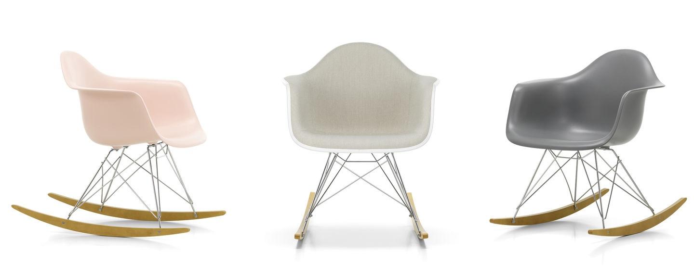 Sedia Dondolo Vitra Eames.Vitra Eames Plastic Armchair Rar Poltrona A Dondolo Rocking Seating Online Sale On Mobilcasa Pisa